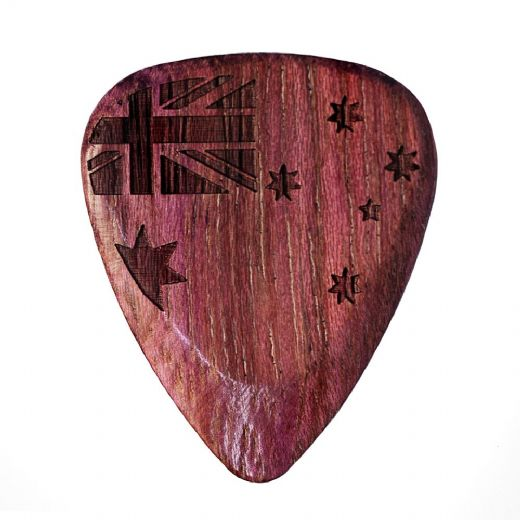 Flag Tones Southern Cross Purple Heart 1 Guitar Pick